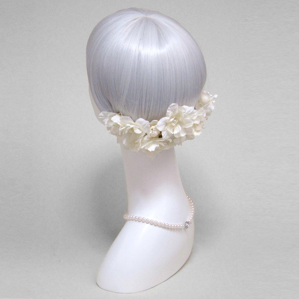 アーティフィシャルフラワー(造花)のエクリュデルフィニウムのボンネット画像_airaka