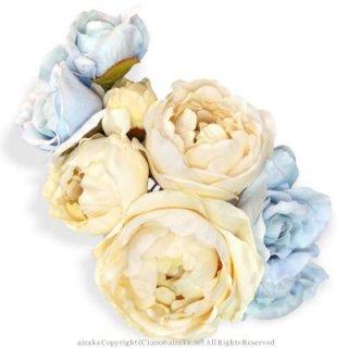 アーティフィシャルフラワー(造花)のセントセシリアローズの髪飾り画像_airaka