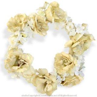 アーティフィシャルフラワー(造花)のリシアンサスの花冠(ホワイトベージュ)画像_airaka