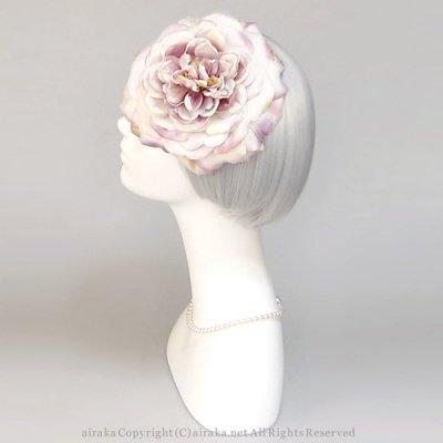 アーティフィシャルフラワー(造花)のローズのラウンドプラトー(パープル)画像_airaka