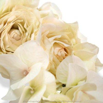 アーティフィシャルフラワー(造花)のイリスラナンキュラスの髪飾り画像_airaka