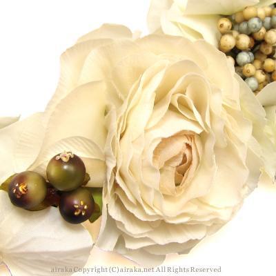 アーティフィシャルフラワー(造花)のイリスラナンキュラスの花冠画像_airaka