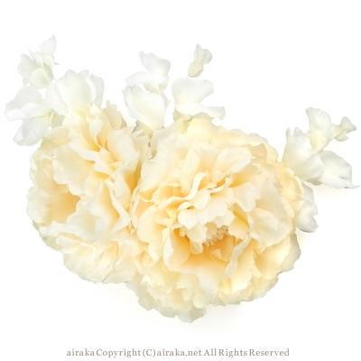 アーティフィシャルフラワー(造花)のテンダーピオニーの髪飾り画像_airaka
