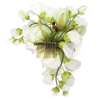 アーティフィシャルフラワー(造花)のブリティッシュローズの髪飾り画像_airaka