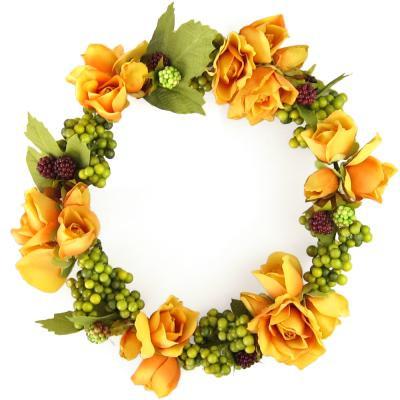 アーティフィシャルフラワー(造花)の山葡萄の花冠(イエロー)画像_airaka