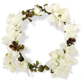 デルフィニウムの花冠(白)