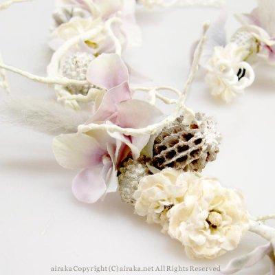 アーティフィシャルフラワー(造花)の花冠WhiteJourney(ホワイトジャーニー)画像_airaka