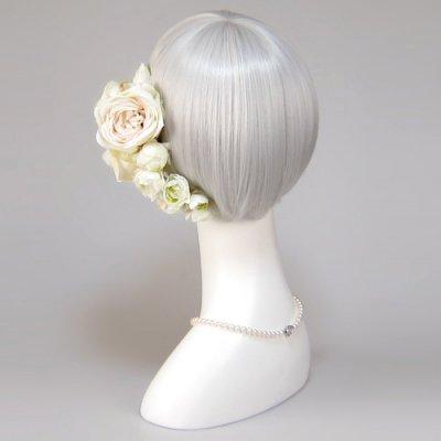 アーティフィシャルフラワー(造花)のホリーローズの髪飾り画像_airaka