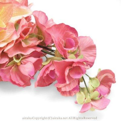 アーティフィシャルフラワー(造花)のアマリリスの髪飾り(ピンク)画像_airaka