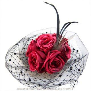 アーティフィシャルフラワー(造花)のローズのチュールプラトー画像_airaka
