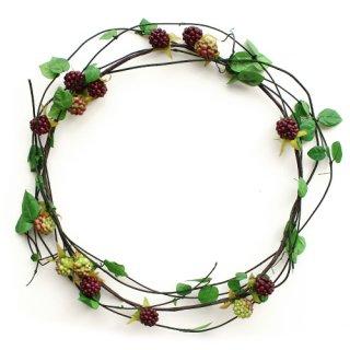 アーティフィシャルフラワー(造花)の蔓草の花冠手作りキット(ラズベリー)画像_airaka