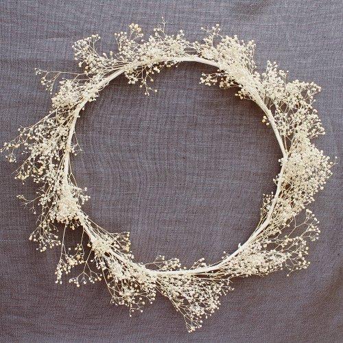 アーティフィシャルフラワー(造花)のカスミ草の花冠手作りキット(アイボリー)画像_airaka