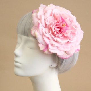 アーティフィシャルフラワー(造花)のバラのラウンドプラトー(ピンク)画像_airaka