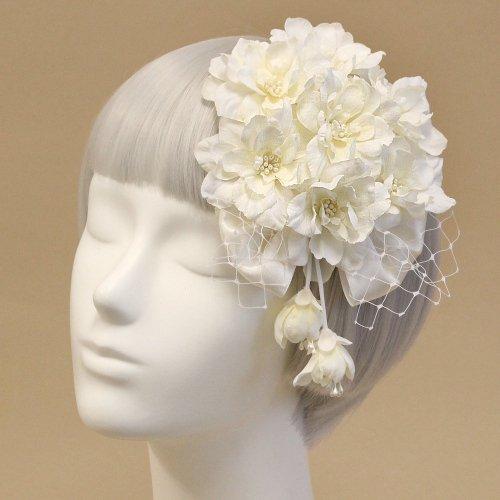アーティフィシャルフラワー(造花)のデルフィニウムのプラトー(パールホワイト)画像_airaka