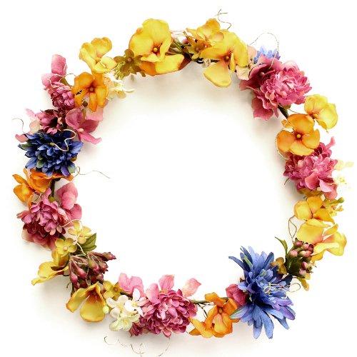 アーティフィシャルフラワー(造花)のマムとフロックスの花冠(ミックス)画像_airaka