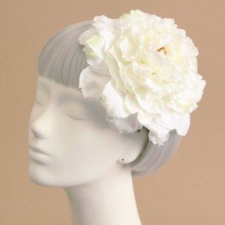 アーティフィシャルフラワー(造花)の芍薬のプラトーハット(白)画像_airaka