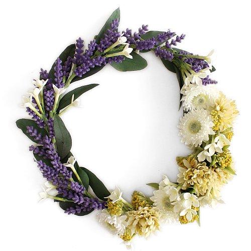アーティフィシャルフラワー(造花)のラベンダーの花冠画像_airaka