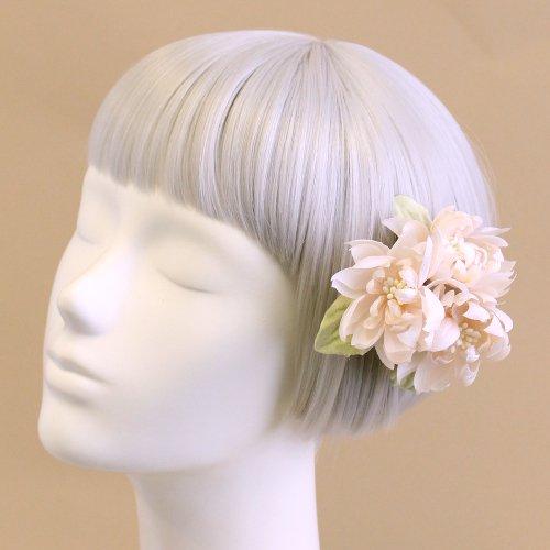 アーティフィシャルフラワー(造花)の髪飾り/couture flower プリアンナ(アイボリー)画像_airaka