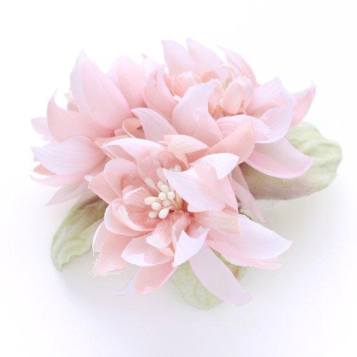 アーティフィシャルフラワー(造花)の髪飾り/couture flower プリアンナ(シフォンピンク)画像_airaka