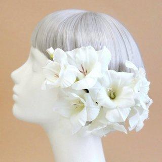アーティフィシャルフラワー(造花)のグラジオラスの髪飾り画像_airaka