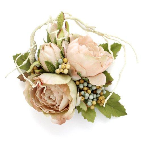 アーティフィシャルフラワー(造花)のサンクローズの髪飾り(ピンク)画像_airaka