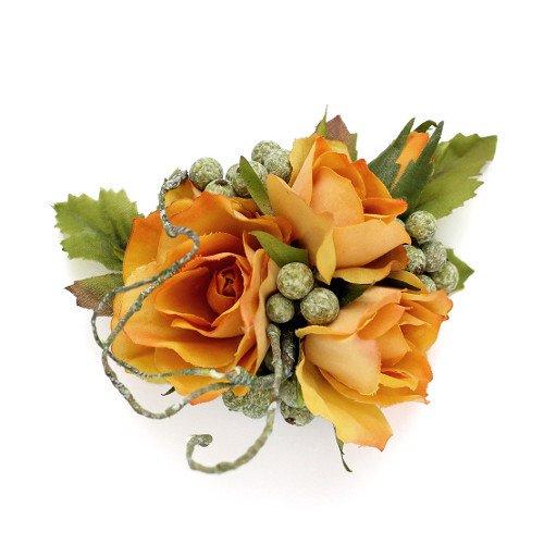 アーティフィシャルフラワー(造花)のサンクローズの髪飾り(イエロー)画像_airaka