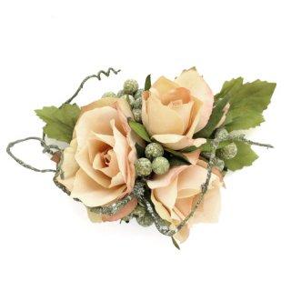 アーティフィシャルフラワー(造花)のサンクローズの髪飾り(ベージュ)画像_airaka