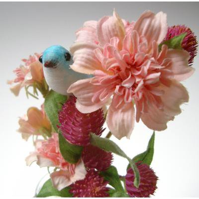 アーティフィシャルフラワー(造花)のブーケスティック(コスモス)画像_airaka