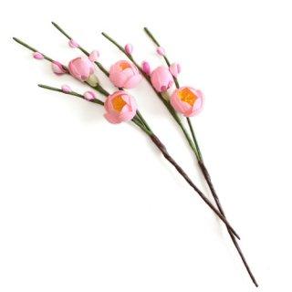 アーティフィシャルフラワー(造花)の薄紅梅の髪飾り画像_airaka