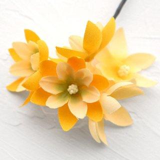 アーティフィシャルフラワー(造花)のフリルレンジアの髪飾り(黄)画像_airaka