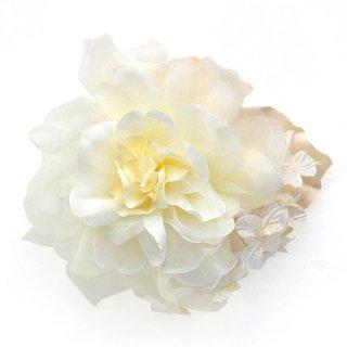 アーティフィシャルフラワー(造花)のcouture flower パルファンローズ(クリームホワイト)画像_airaka