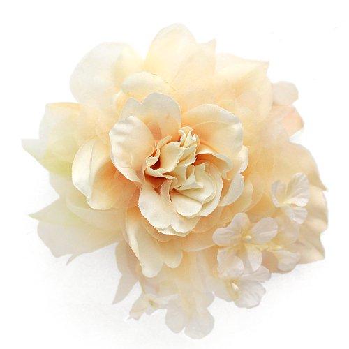アーティフィシャルフラワー(造花)のcouture flower パルファンローズ(シャンパンベージュ)画像_airaka