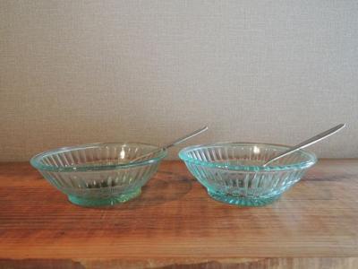 プレスデザート皿・格子紋様