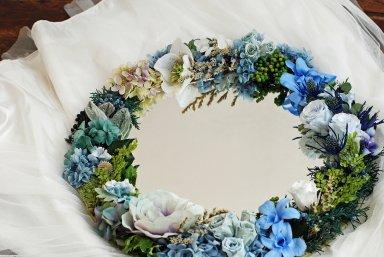 Flower mirror ブルー