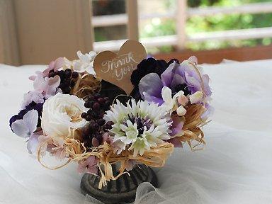 Preserved & Art flower arrengement</p>パープルベリー