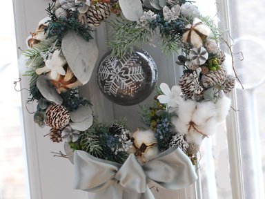<img class='new_mark_img1' src='https://img.shop-pro.jp/img/new/icons48.gif' style='border:none;display:inline;margin:0px;padding:0px;width:auto;' />Christmas wreath 1</p>白グリーン