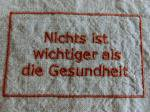 BBオリジナル ドイツ語タグ「健康が一番」 (レンガ)