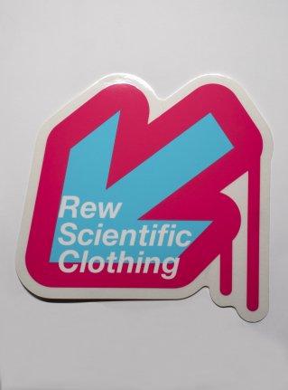 r Arrow logo sticker08 / pink x blue