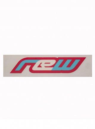 r Classic logo sticker08 (die cut) / pink x l-blue x white
