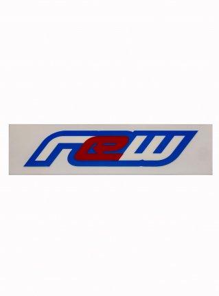 r Classic logo sticker08 (die cut)   blue x white x red
