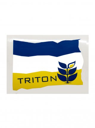 t Flag Sticker08 / Navy x Yellow