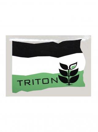 t Flag Sticker08 / D-Green x Mint