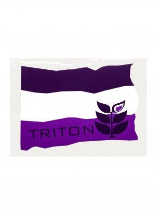 t Flag Sticker08 / D-Purple x Purple