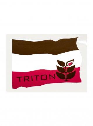 t Flag Sticker08 / D-Brown x Pink