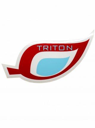 t Leaf logo STICKER08 / red x l-blue