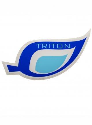 t Leaf logo STICKER08 / blue x l-blue