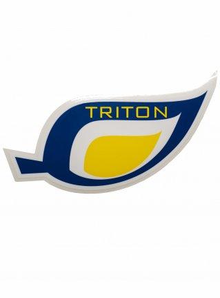 t Leaf logo STICKER08 / navy x yellow