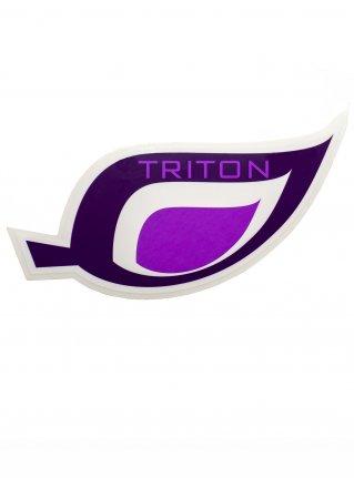 t Leaf logo STICKER08 / d-purple x purple
