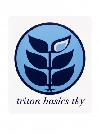 t Circle Logo Sticker08 / Sky x Navy