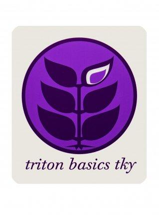 t Circle Logo Sticker08 / Purple x D-Purple